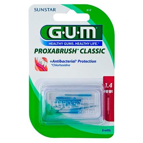 Cepillo interdental recambio - gum 612 proxabrush (1.4 cilindrico 8 u)