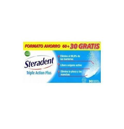 Steradent triple accion plus - limpieza protesis dental (90 comprimidos)