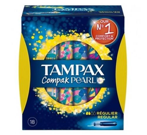 Tampax compak pearl regula 18u