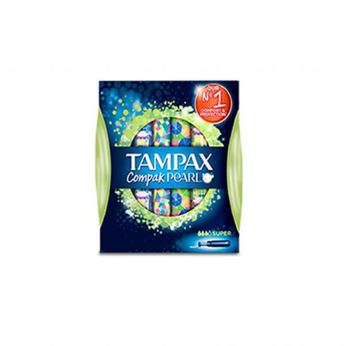 Tampax compak pearl super 18u