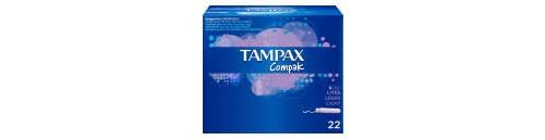 Tampax compak tampon 100%algodon (lites 20 u)