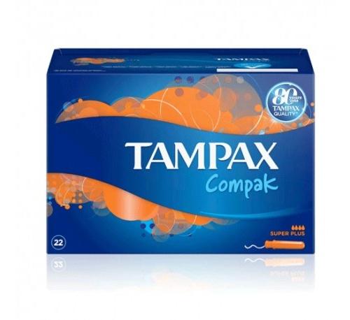 Tampax compak tampon 100%algodon (super plus 24 u)