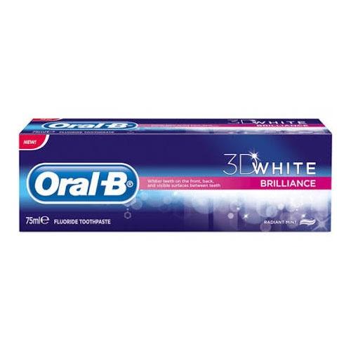 Oral-b 3dwhite pasta dental luxe brillo seductor (1 envase 75 ml + 1 envase 25 ml pack)