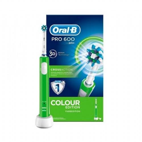Cepillo dental electrico recargable - oral b pro 600 cross action (colour verde)
