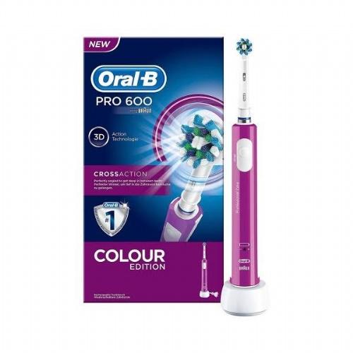 Cepillo dental electrico recargable - oral-b pro 600 (morado)