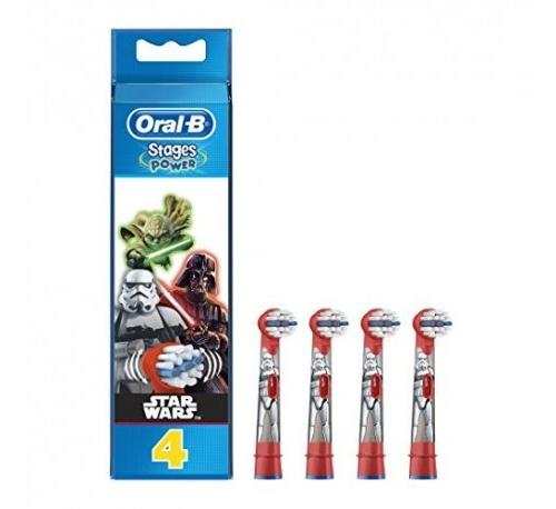 Cepillo dental electrico infantil recambios - oral-b kids spider-man (4 recambios)