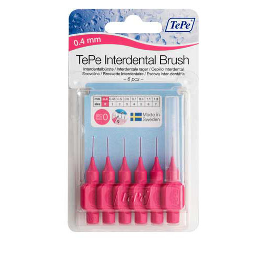 Cepillo interdental tepe 0.4 mm rosa