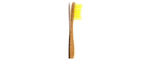 Cepillo dental bambu amarillo suave
