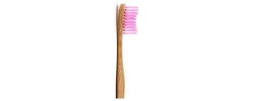 Cepillo dental bambu rosa suave