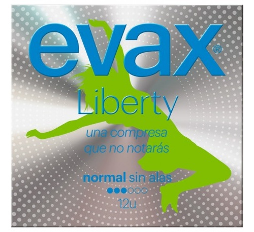 Compresas higienicas femeninas - evax liberty (normal sin alas 16 compresas)