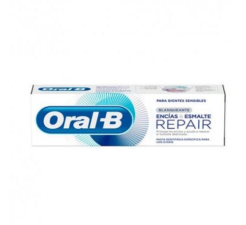 Oral-b pasta encias & esmalte repair blanqueante (75 ml + 25 ml)
