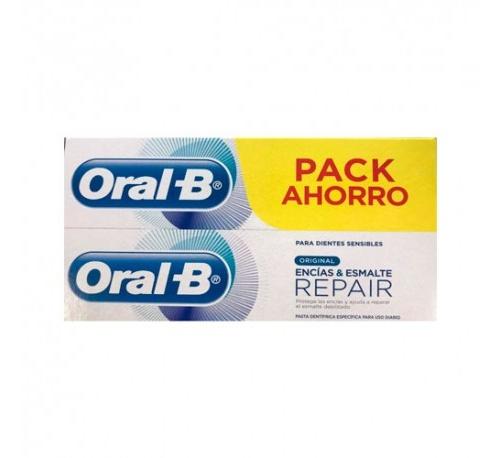 Oral-b pasta encias & esmalte repair original (2 x (75 ml + 25 ml))