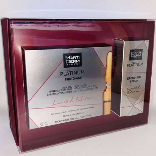 Martiderm box platinum photo age+krono age serum