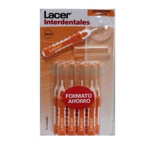 Cepillo interdental - lacer (extrafino suave recto 10 unidades)