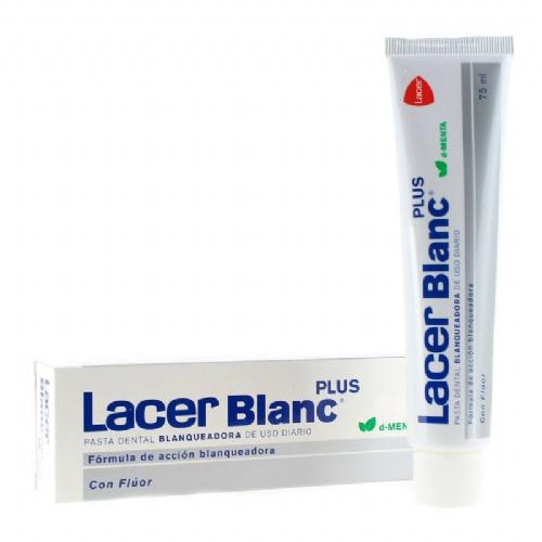 Lacerblanc plus blanqueadora uso diario - pasta dental (1 envase 75 ml sabor d-menta)