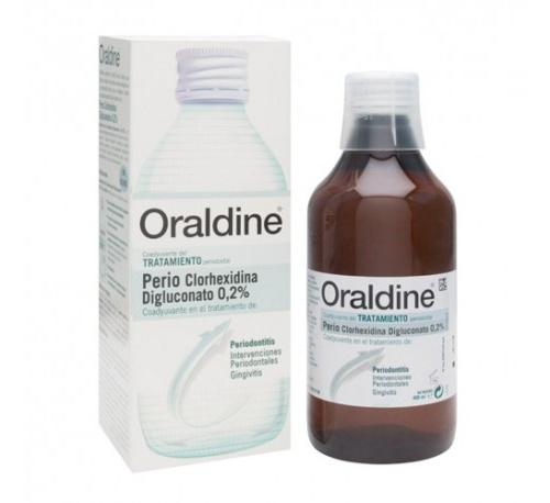 Oraldine perio colutorio clorhexidina 0.2% (1 envase 400 ml)
