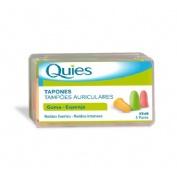 Tapones oidos espuma fluo - quies (6 unidades)