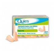 Tapones oidos goma - quies (color carne 6 u)