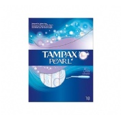 Tampax pearl tampon 100%algodon (lites 18 u)