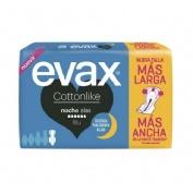 Compresas higienicas femeninas - evax cottonlike (noche con alas 18 compresas)
