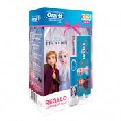 Cepillo dental electrico - oral-b kids frozen ii (+3 años suave cabezal repuesto 4 unidades)