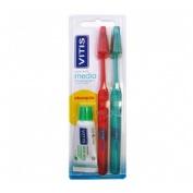 Cepillo dental adulto - vitis (medio duplo)