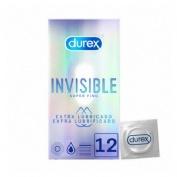 Durex invisible extra fino extra lubricado - preservativos (12 unidades)
