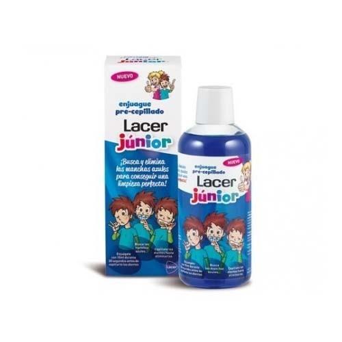 Enjuague pre cepillado lacer junior (1 envase 500 ml)