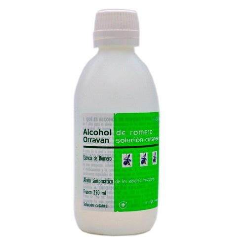 ALCOHOL DE ROMERO ORRAVAN SOLUCION CUTANEA, 1 frasco de 250 ml