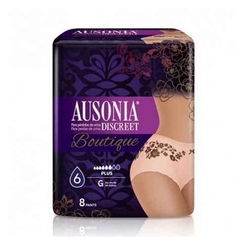 Absorb inc orina ligera - ausonia discreet boutique (pants talla m 8 u)