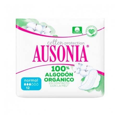 Compresas higienicas femeninas - ausonia cotton protection (normal alas 12 u)