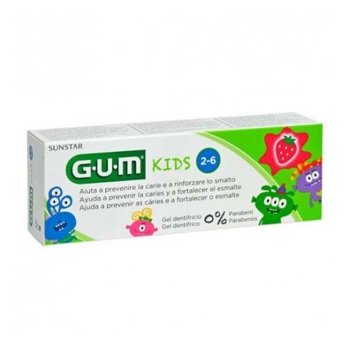 Gum kids pasta dental (1 envase 50 ml sabor fresa)