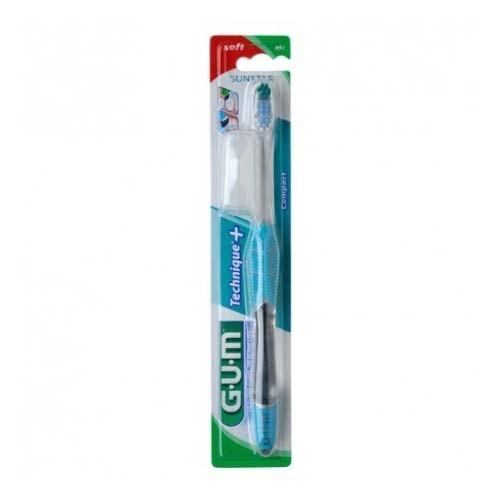 Cepillo dental adulto - gum 491 technique plus compacto (suave)