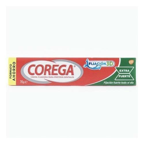 Corega crema extra fuerte - adhesivo protesis dental (75 ml)