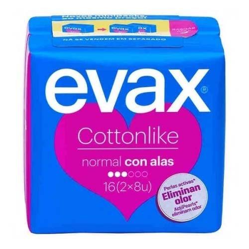 Compresas higienicas femeninas - evax cottonlike (normal con alas 16 compresas)