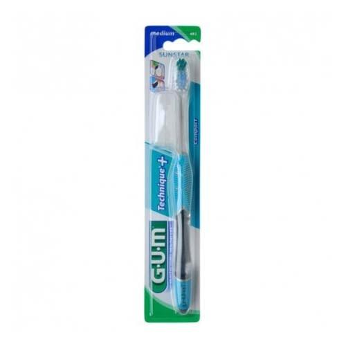 Cepillo dental adulto - gum 493 technique plus compacto (medio)