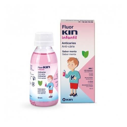 Fluor kin infantil colutorio semanal 0,2 (1 envase 100 ml)