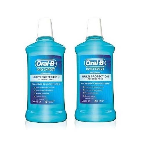 Oral-b colutorio pro expert proteccion profesion (pack 500 ml 2 u)