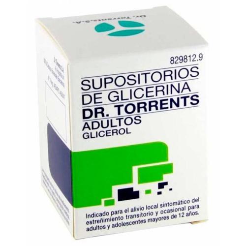 SUPOSITORIOS DE GLICERINA DR. TORRENTS ADULTOS, 12 supositorios